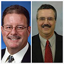 Minot, ND Chamber President L. John MacMartin and Board Chairman Randy Hauck